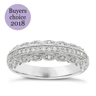 Platinum 1/4ct Diamond Marquise Wedding Ring - Product number 4637720
