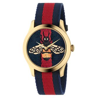 Gucci Le Marché Des Merveilles Bee Striped Strap Watch - Product number 4639359