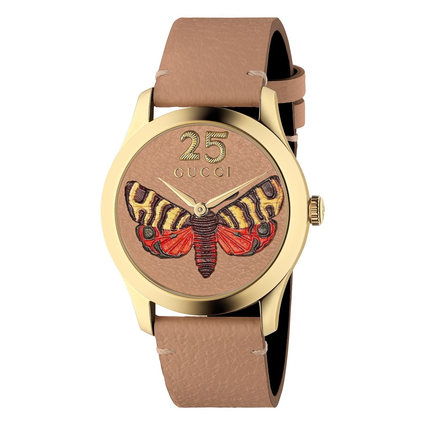 Gucci G-Timeless Butterfly Pink Leather Strap Watch - Product number 4639375