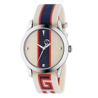 Gucci G-Timeless Ladies' Cream Motif Strap Watch - Product number 4639537
