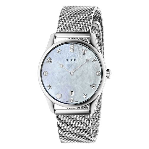 Gucci G-Timeless Ladies' Stainless Steel Mesh Bracelet Watch - Product number 4639596