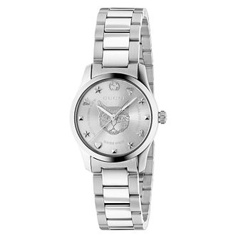 Gucci G-Timeless Cat Stainless Steel Bracelet Watch - Product number 4639626