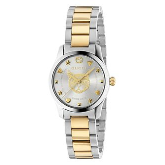 Gucci G-Timeless Cat Two Tone Bracelet Watch - Product number 4639634