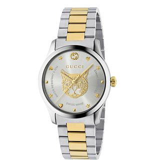 Gucci G-Timeless Unisex Cat Two-Tone Bracelet Watch - Product number 4639715