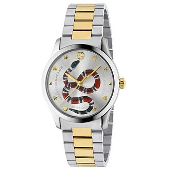 Gucci G-Timeless Unisex Snake Two-Tone Bracelet Watch - Product number 4639758