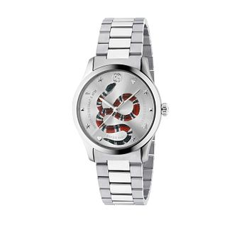 Gucci G-Timeless Snake Unisex Stainless Steel Bracelet Watch - Product number 4639766