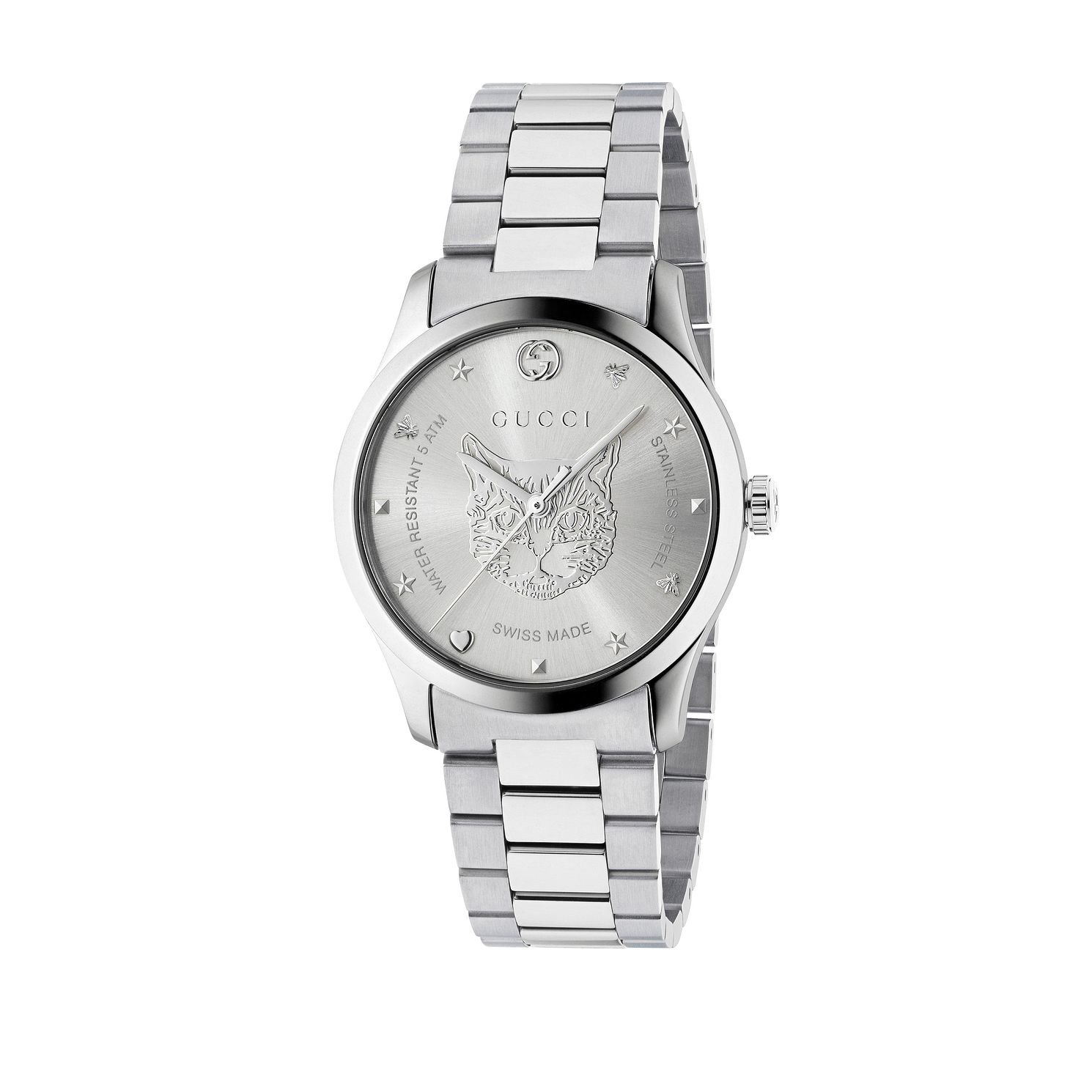 Gucci G-Timeless Unisex Cat Stainless Steel Bracelet Watch - Product number 4639812
