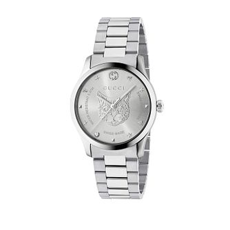 Gucci G-Timeless Unisex Stainless Steel Cat Bracelet Watch - Product number 4639812