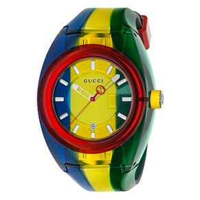 Gucci Sync Men's Multi-colour Stripe Rubber Strap Watch - Product number 4639820