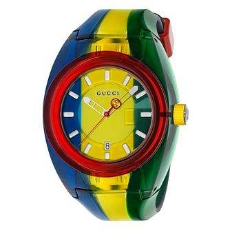 Gucci Sync Men's Multicolour Stripe Rubber Strap Watch - Product number 4639820