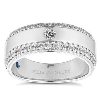Vera Wang 18ct White Gold Men's 0.45ct Diamond Band? - Product number 4640160