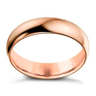 9ct Rose Gold 8mm Extra Heavyweight D Shape Ring - Product number 4640276