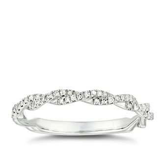 Platinum 0.15ct Diamond Twist Wedding Ring - Product number 4640446