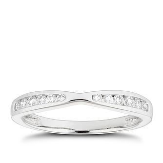 Platinum 1/5ct Diamond Channel Set Shaped Wedding Ring - Product number 4640632