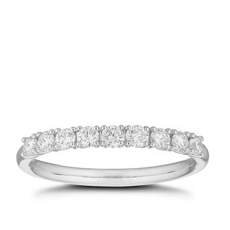 Platinum 0.40ct Diamond 9 Stones Ring - Product number 4641507