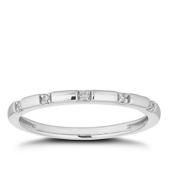Platinum Diamond Station Wedding Ring - Product number 4641809