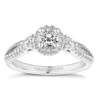 Vera Wang 18ct White Gold 0.69ct Halo Engagement Ring? - Product number 4645480