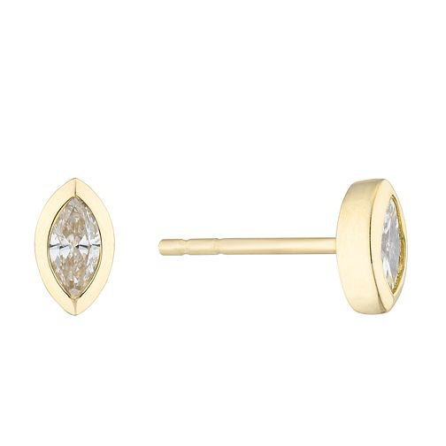 9ct Yellow Gold & 0.15ct Diamond Earrings - Product number 4646959