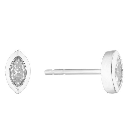 9ct White Gold Marquise Cut Diamond Earrings - Product number 4646967