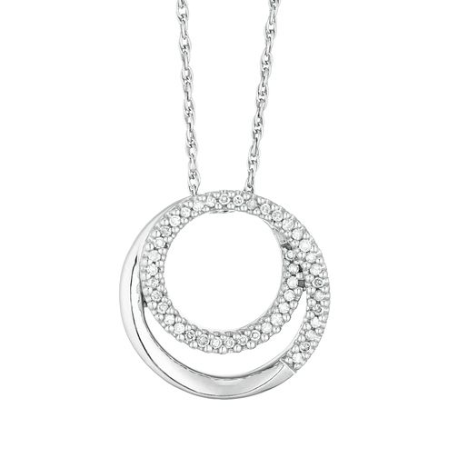 Silver and Diamond Circle Pendant - Product number 4648889