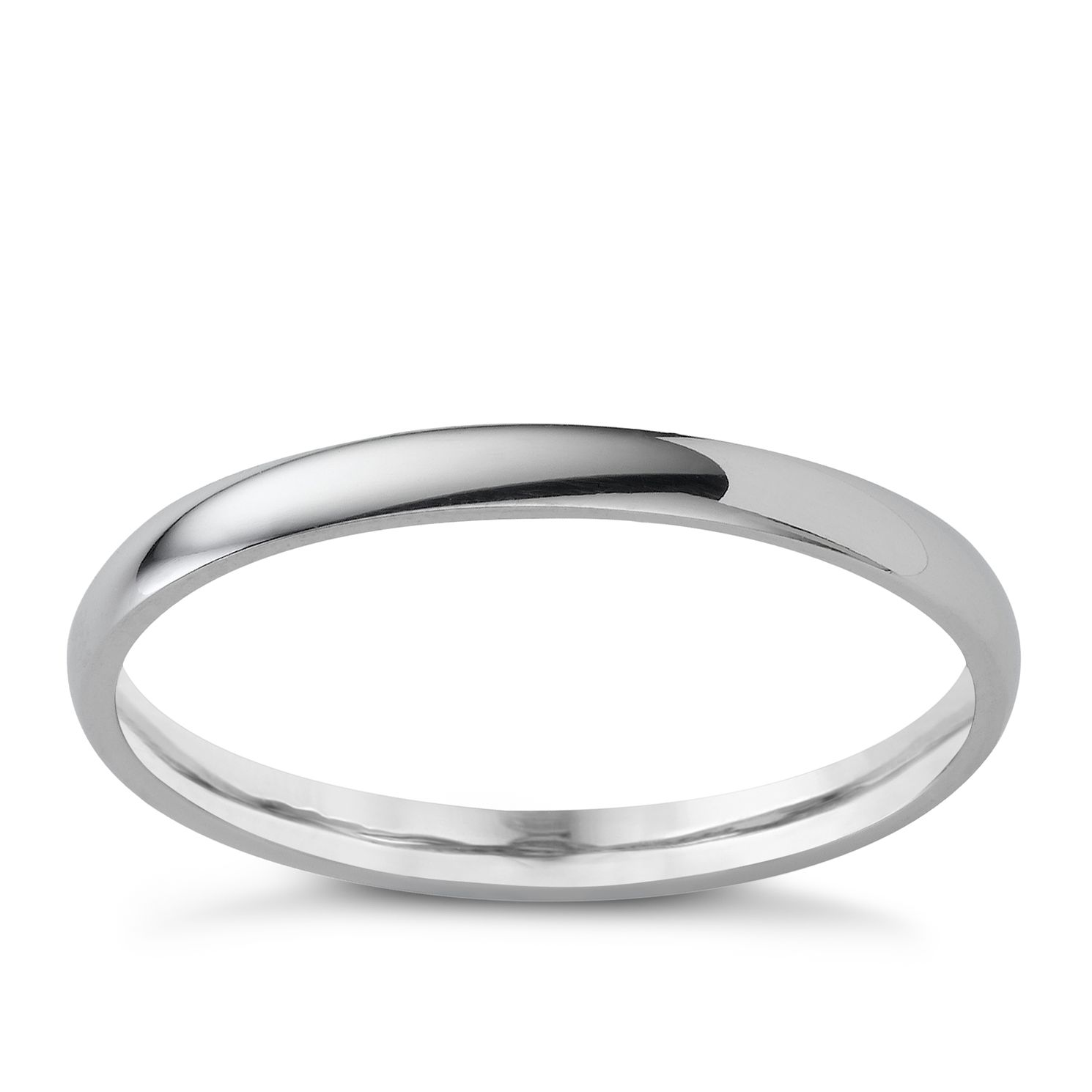 Platinum 2mm Extra Heavyweight Court Ring - Product number 4649559