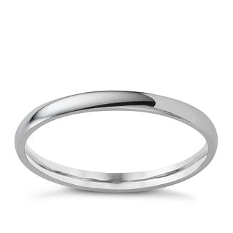 Platinum extra heavy 2mm court ring - Product number 4649559