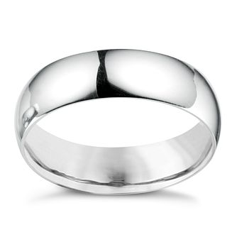 18ct White Gold 6mm Extra Heavyweight Court Ring - Product number 4649877