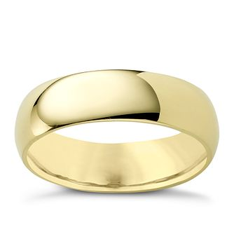 18ct yellow gold 6mm super heavyweight court ring - Product number 4650042