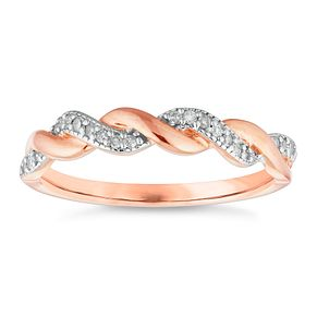 9ct Rose Gold Diamond Ring - Product number 4653467