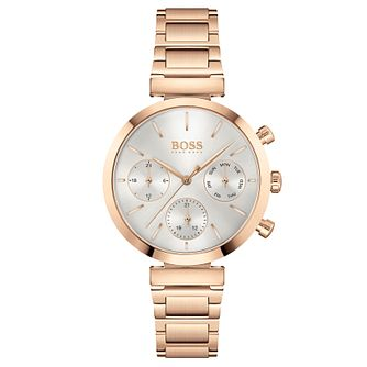 BOSS Flawless Ladies' Rose Gold Tone Bracelet Watch - Product number 4653734