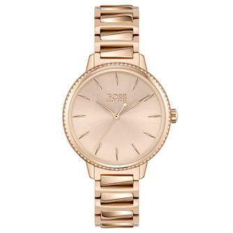 BOSS Signature Ladies' Rose Gold Tone Bracelet Watch - Product number 4653785