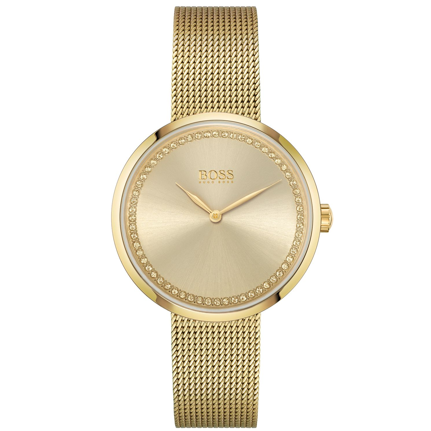 BOSS Praise Ladies' Yellow Gold Tone Bracelet Watch - Product number 4654099