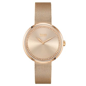 BOSS Praise Ladies' Rose Gold Tone Bracelet Watch - Product number 4654110