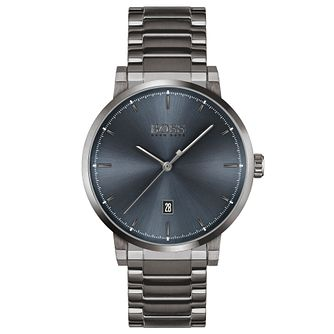 BOSS Confidence Men's Grey IP Bracelet Watch - Product number 4662407