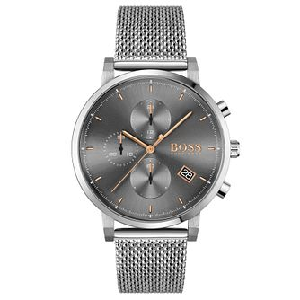 BOSS Integrity Men's Stainless Steel Mesh Bracelet Watch - Product number 4662415