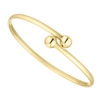 Children's 9ct Yellow Gold Torque Baby Bangle - Product number 4665295