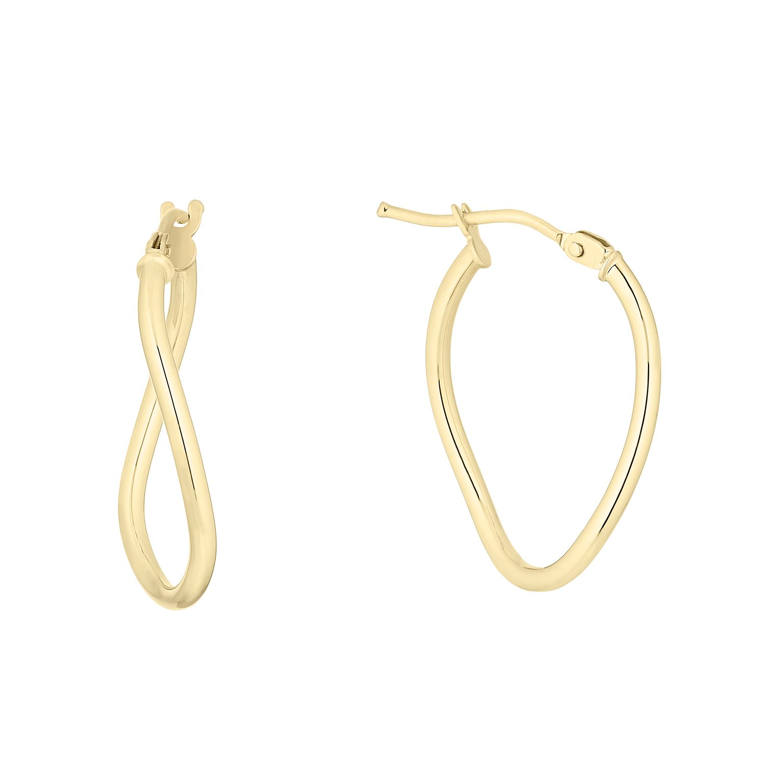9ct Yellow Gold Oval Hoop Earrings - Product number 4668367