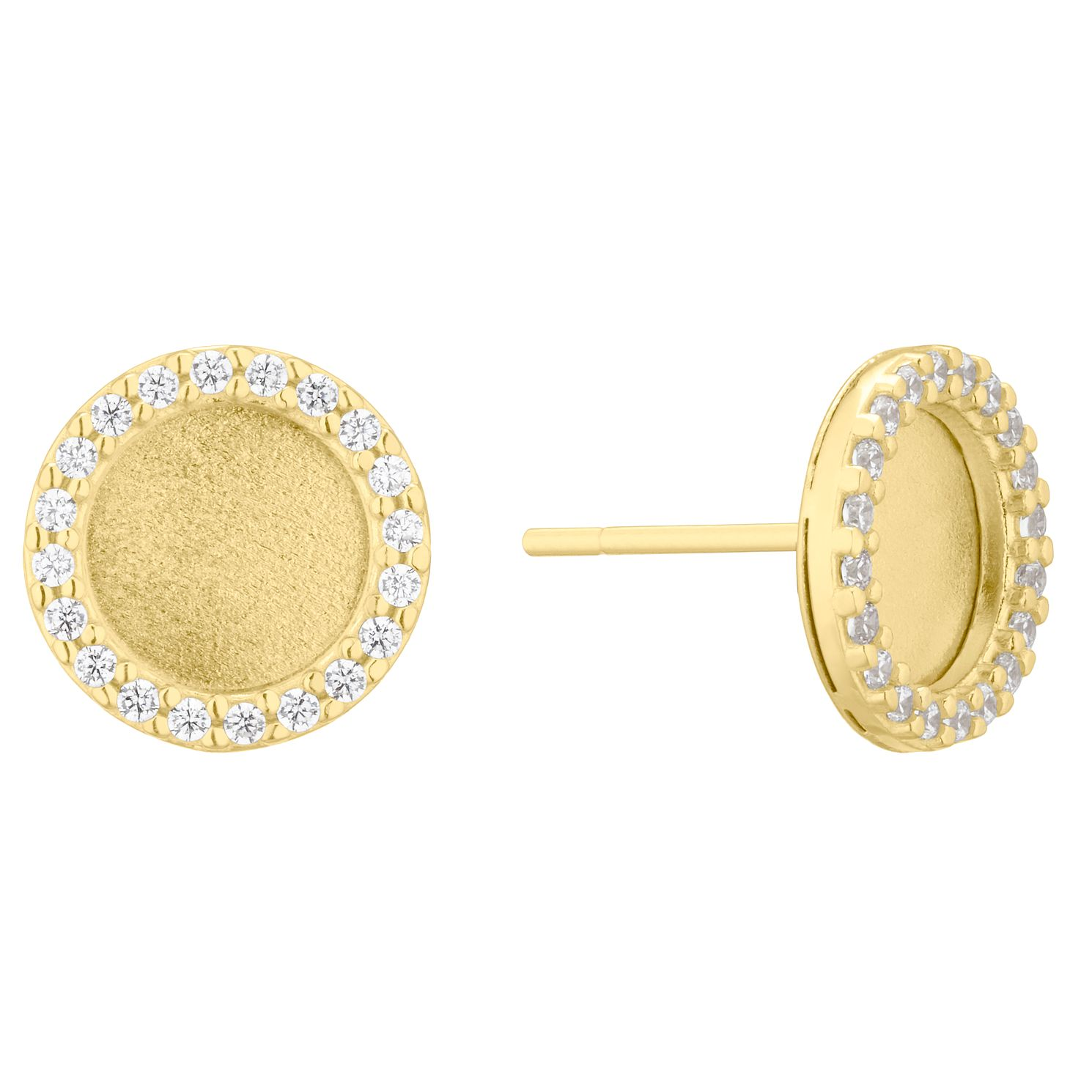 9ct Yellow Gold Cubic Zirconia Round Stud Earrings - Product number 4670027