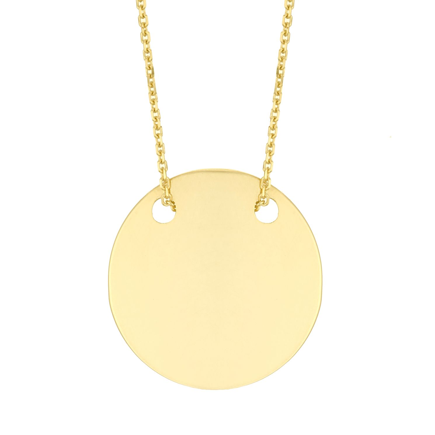 9ct Yellow Gold Round Disc Pendant - Product number 4670256
