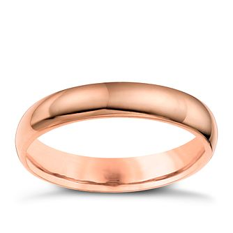 9ct Rose Gold 4mm Super Heavyweight Court Ring - Product number 4672224