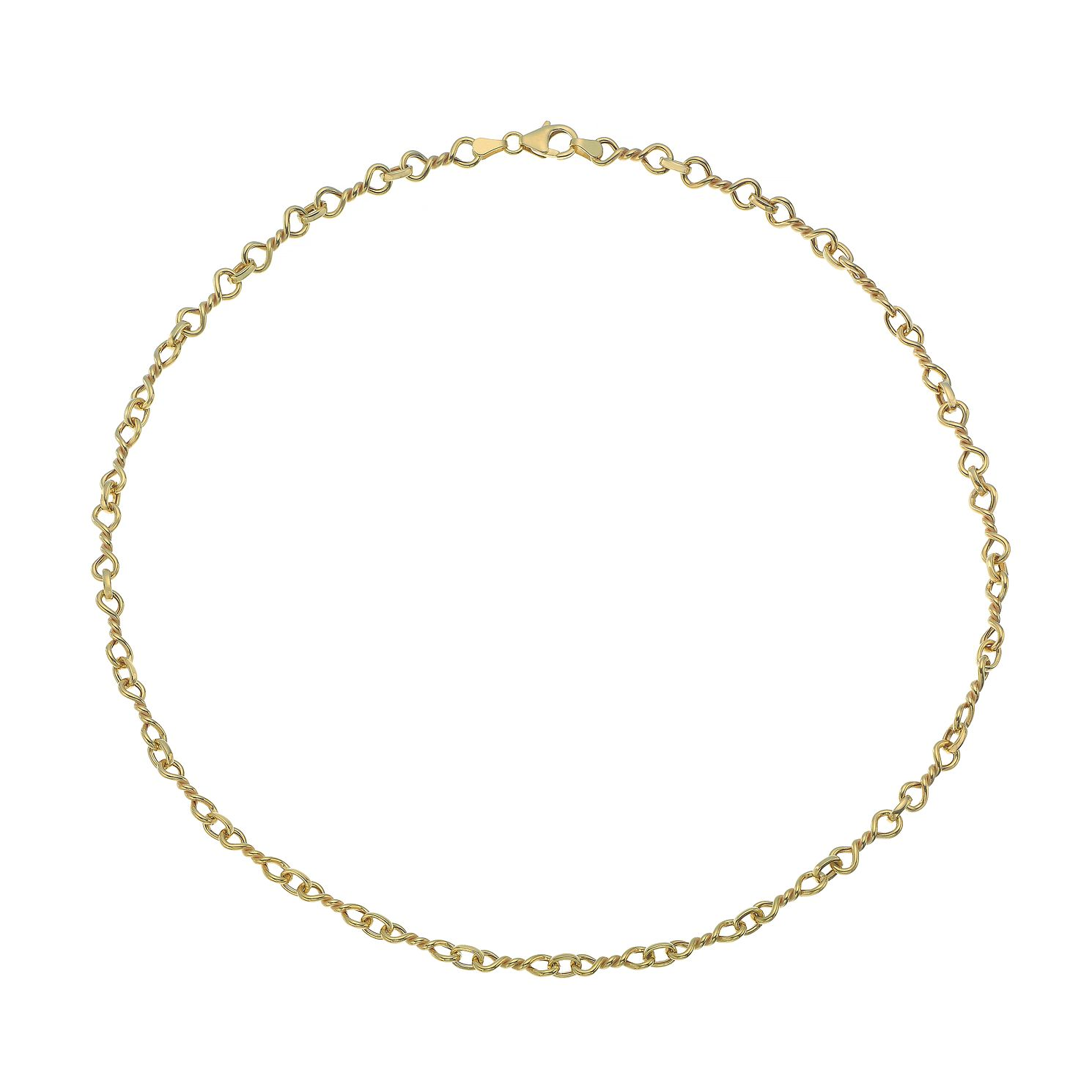 9ct Yellow Gold Twist Link Chain Necklace - Product number 4672283