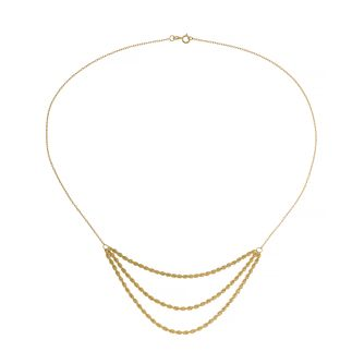 9ct Yellow Gold Triple Rope Chain Necklace - Product number 4672534