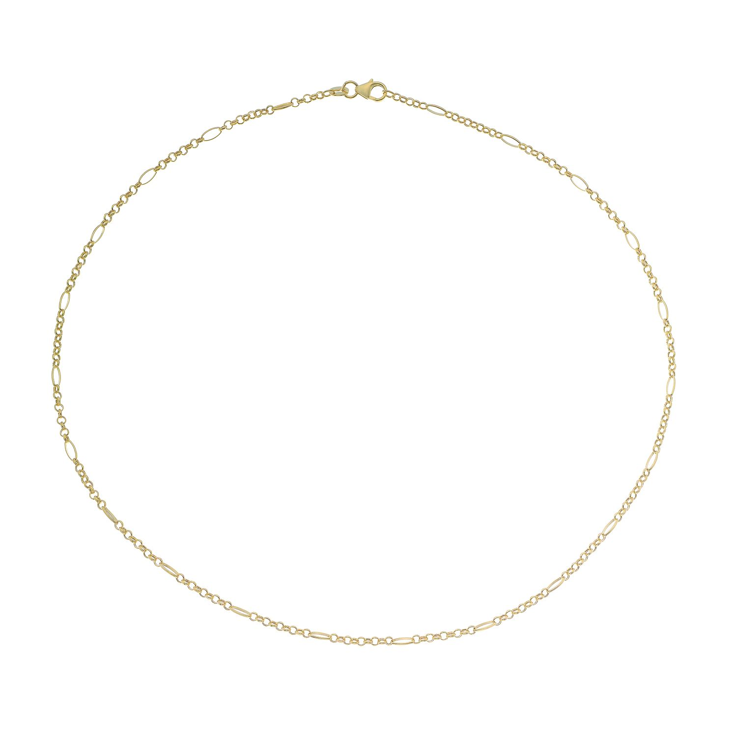 9ct Yellow Gold Oval Link Belcher Chain Necklace - Product number 4672607