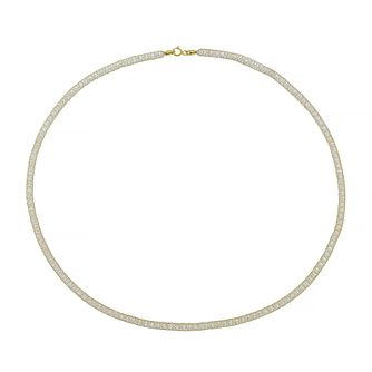 9ct Yellow Gold & Cubic Zirconia Mesh Necklace - Product number 4672763