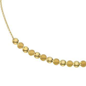 Together Silver & 9ct Bonded Gold Contrasting Disc Necklace - Product number 4672984