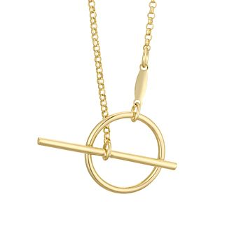 Together Silver & 9ct Bonded Gold T-Bar Necklace - Product number 4673026