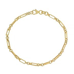 9ct Yellow Gold Alternate Anchor Chain Necklace - Product number 4672577