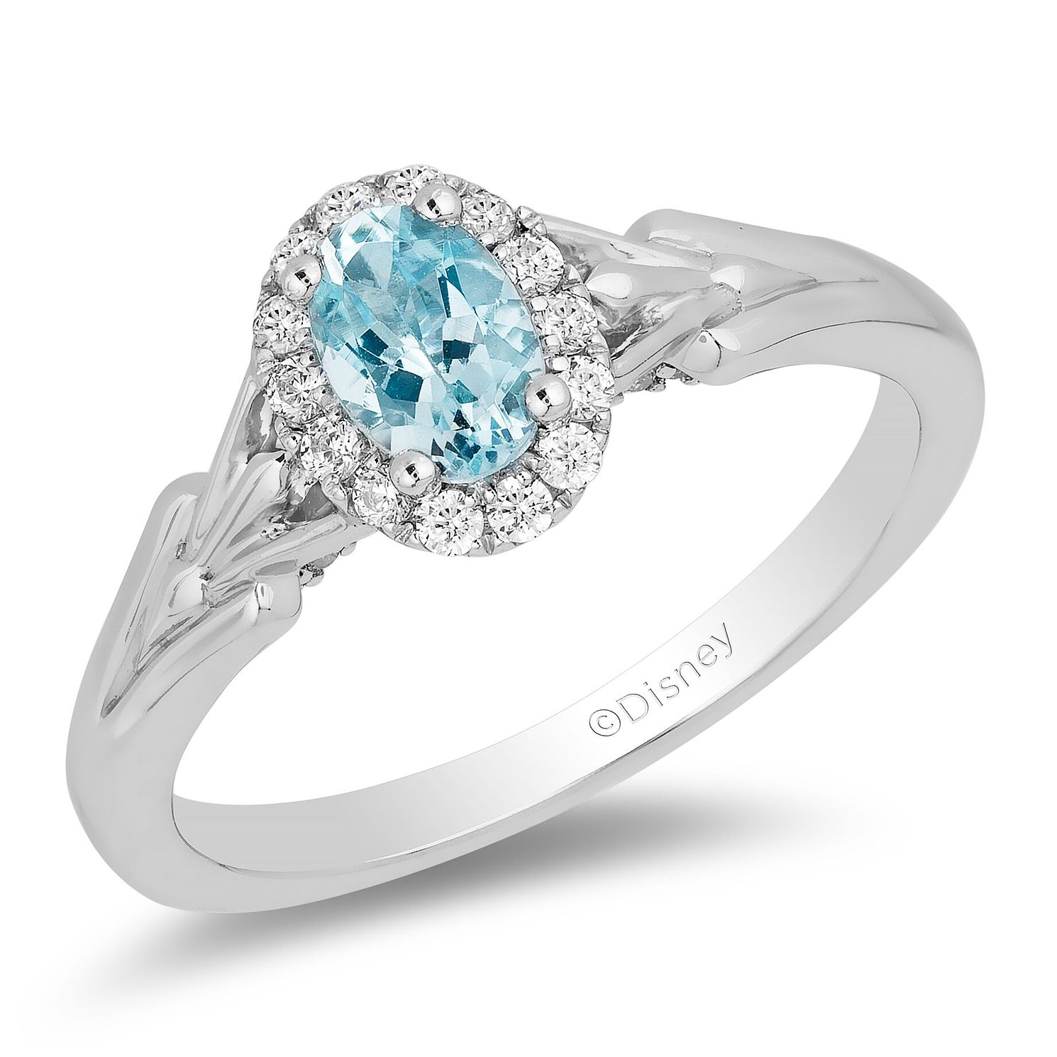 Enchanted Disney Fine Jewelry Diamond Aquamarine Elsa Ring - Product number 4674278