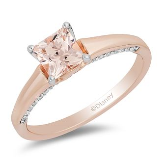Enchanted Disney Fine Jewelry Diamond Morganite Aurora Ring - Product number 4674626