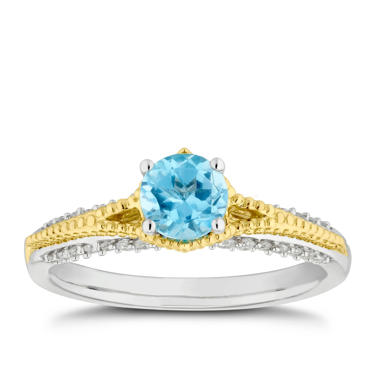 Enchanted Disney Fine Jewelry Diamond Topaz Jasmine Ring - Product number 4675444